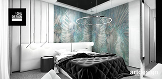 nowoczesna aranzacja sypialni