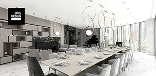 projekty wnetrz luksusowych domow