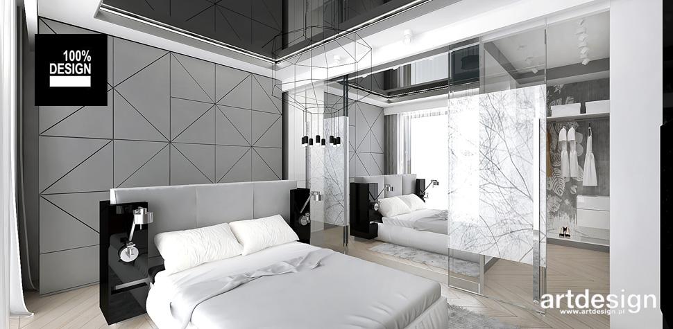 stonowana przytulna sypialnia