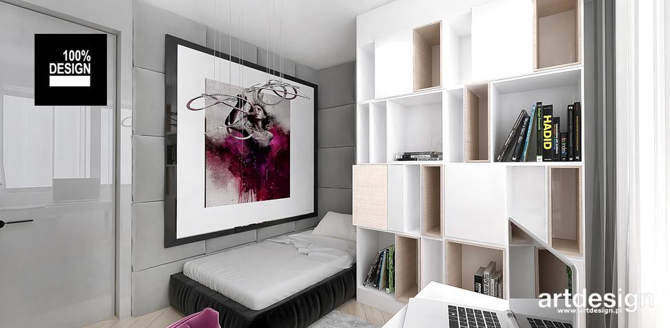 nowoczesny pokój praktyczny projekt