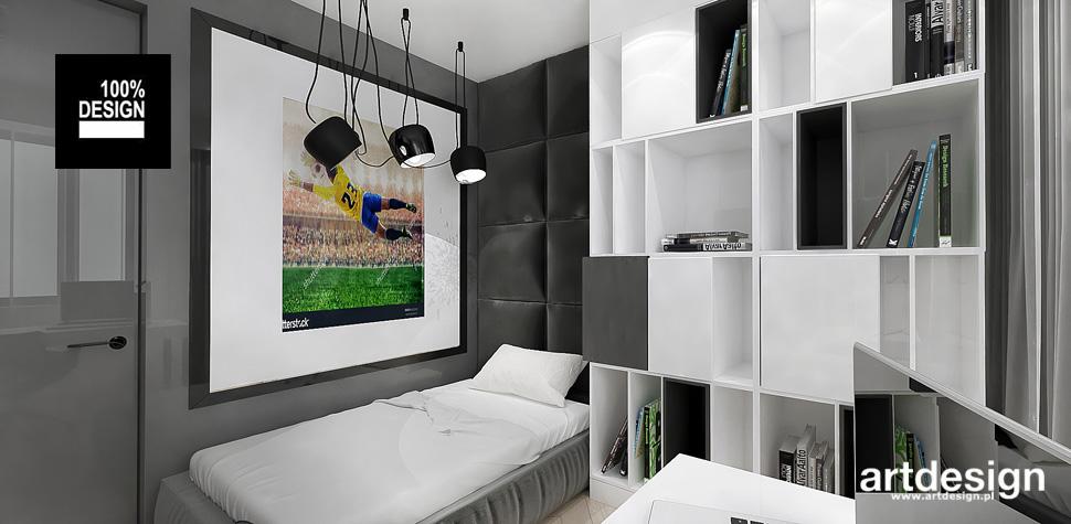 stylowe wnętrze pokoju nastolatka