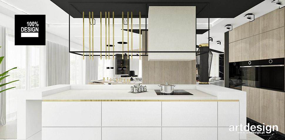 kuchnia biel drewno projekty