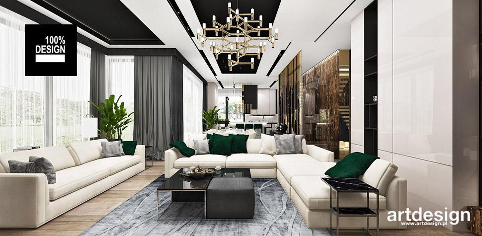 nowoczesne wnętrze domu salon