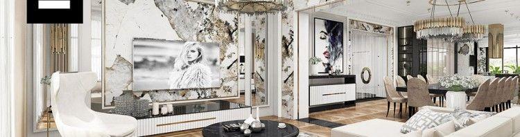 aranżacja salonu art deco wnętrza
