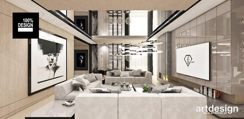 projekt salonu styl nowoczesny