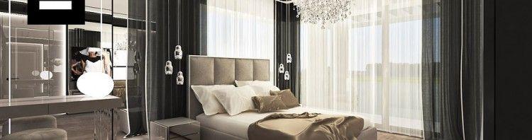 aranżacja sypialni glamour wnetrza