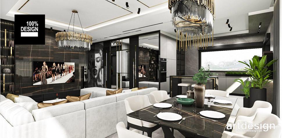 nowoczesny salon jadalnia projekty