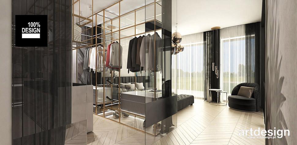 projektowanie wnętrz sypialnia garderoba