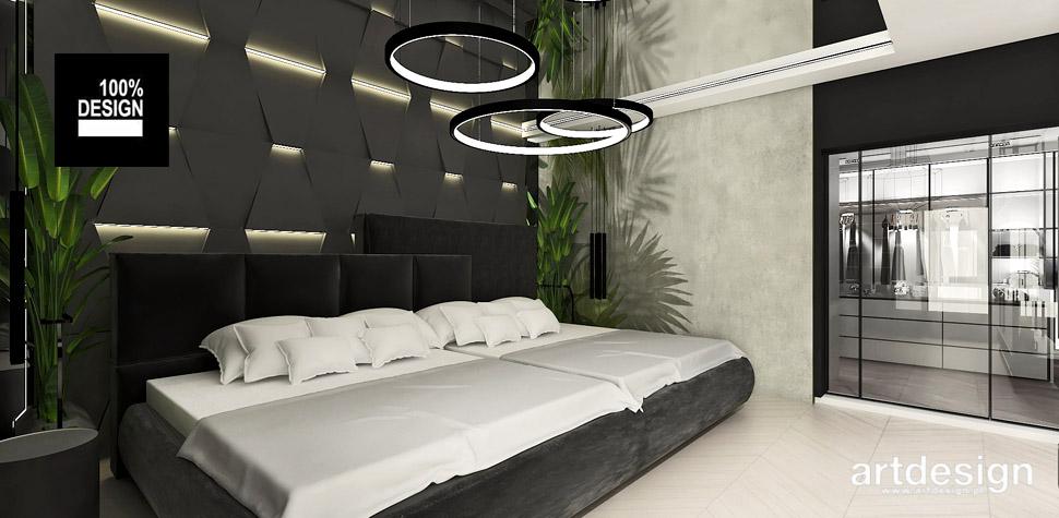nowoczesna sypialnia z garderobą