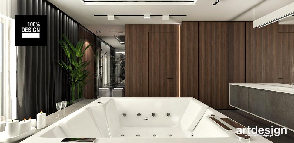 aranżacje wnętrz drewno w łazience
