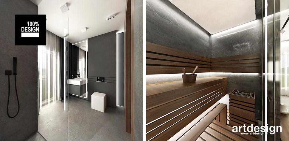 domowe spa sauna aranżacje wnętrz