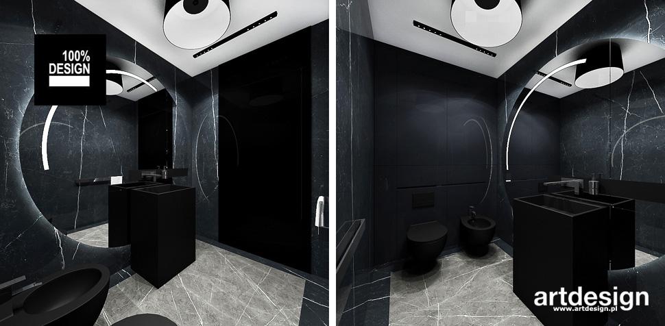 łazienka w ciemnych kolorach inspiracje