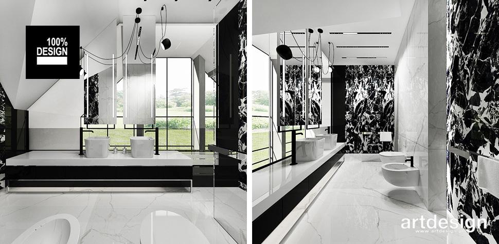 nowoczesna łazienka designerski projekt