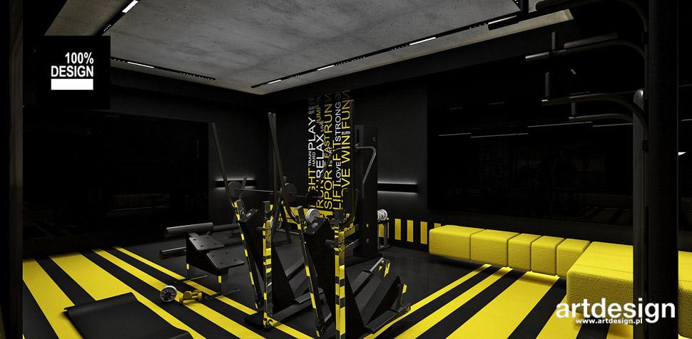 projekty wnętrz dom fitness