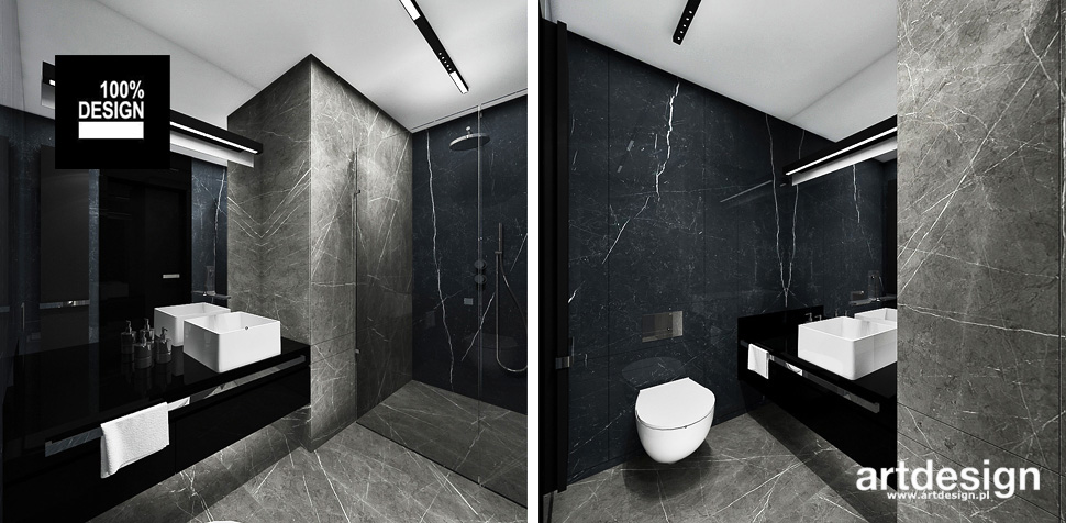 elegancka łazienka nowoczesna
