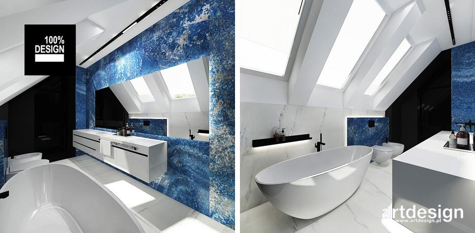 oryginalny projekt łazienki z wanną