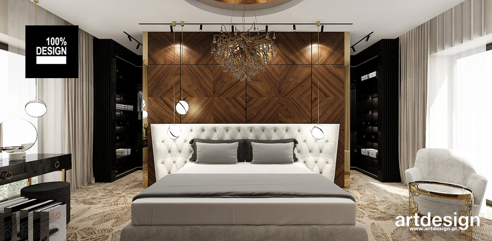 sypialnia drewno inspiracje