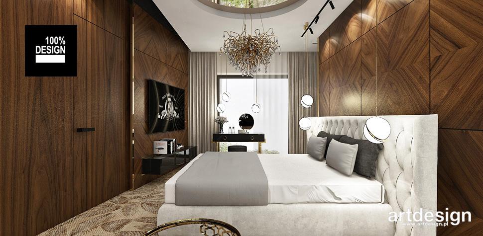 projekty sypialnia drewno