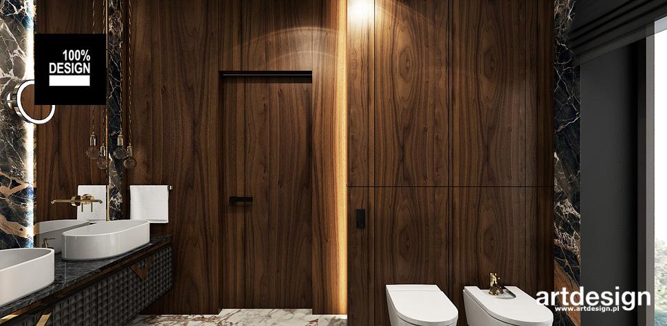 drewno w łazience inspiracje