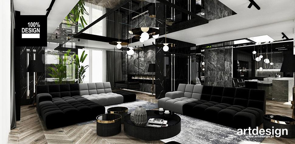 projekt salonu w apartamencie wnętrza
