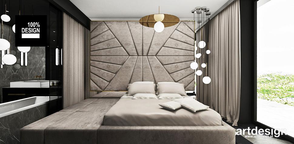 sypialnia beżowa przytulna wnętrza