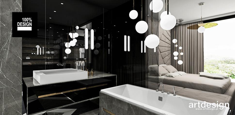 sypialnia z łazienką wnętrza design