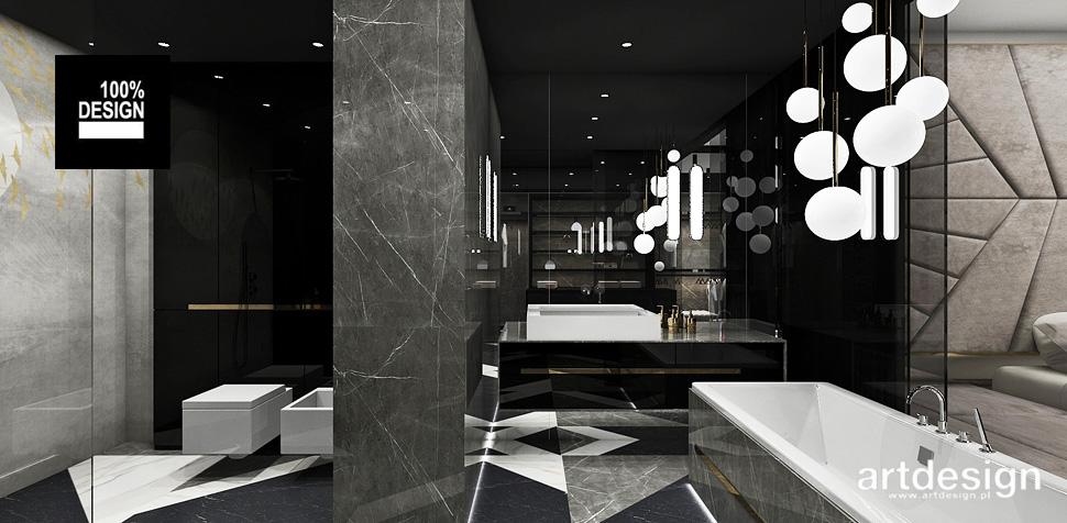 projekty łazienek wnętrza aranżacje