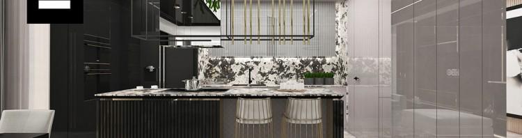nowoczesna kuchnia apartament