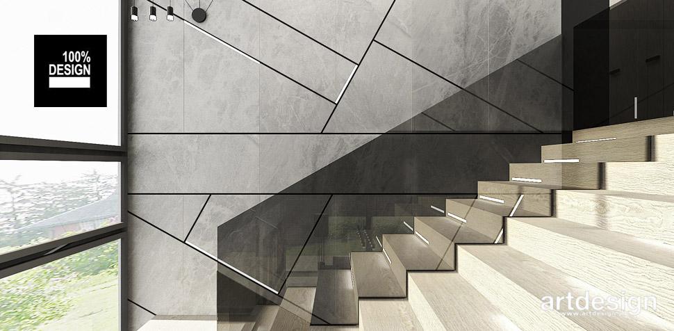 projekt schody dom nowoczesne wnętrze