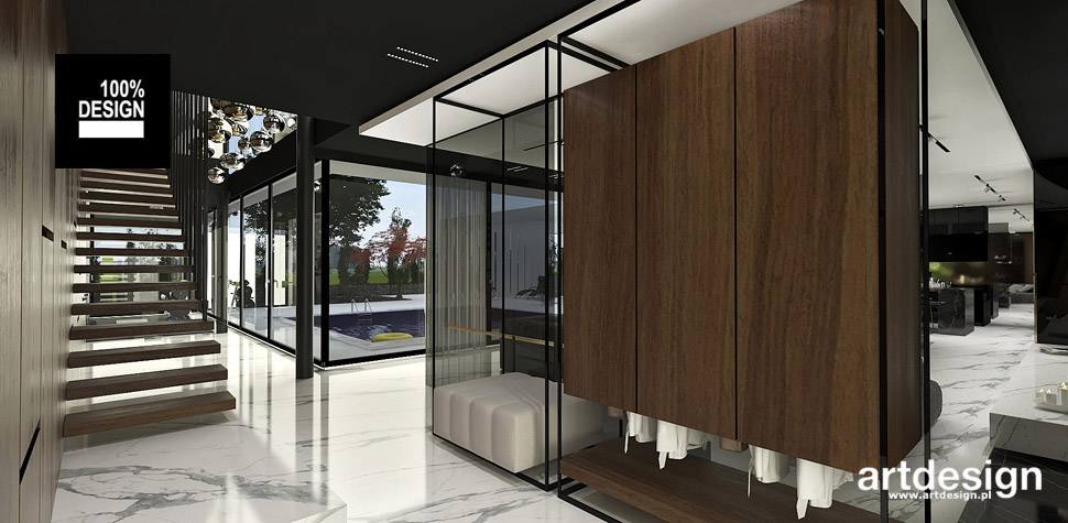 projekty wnętrz duży nowoczesny dom
