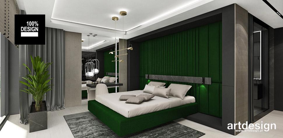 nowoczesna sypialnia projekt aranżacja