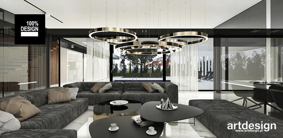 projektowanie wnętrz salon styl nowoczesny
