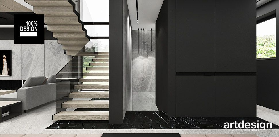 nowoczesne schody projekt wnętrza