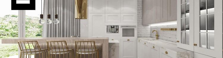 projekt kuchnia biała wnętrza