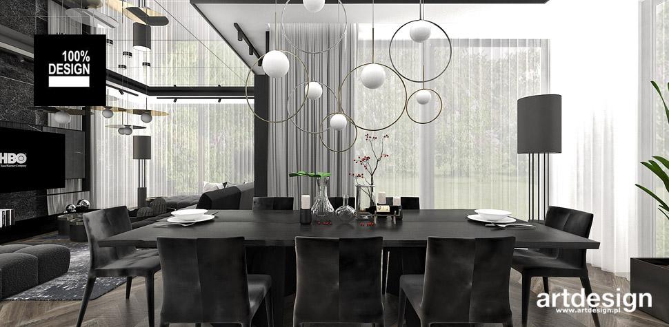 jadalnia salon wnętrza design
