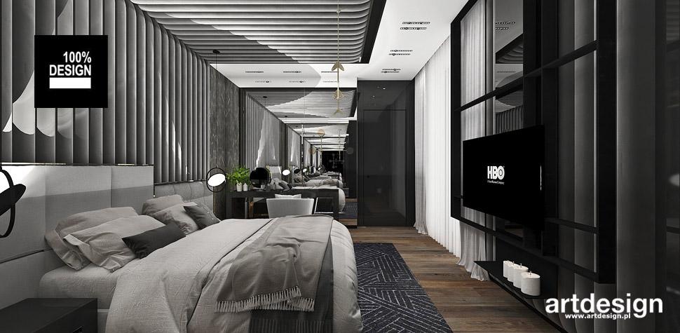 szara sypialnia wnętrze