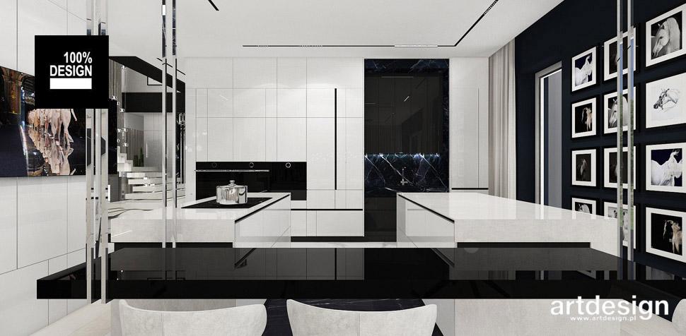 kuchnia biało-czarna aranżacje