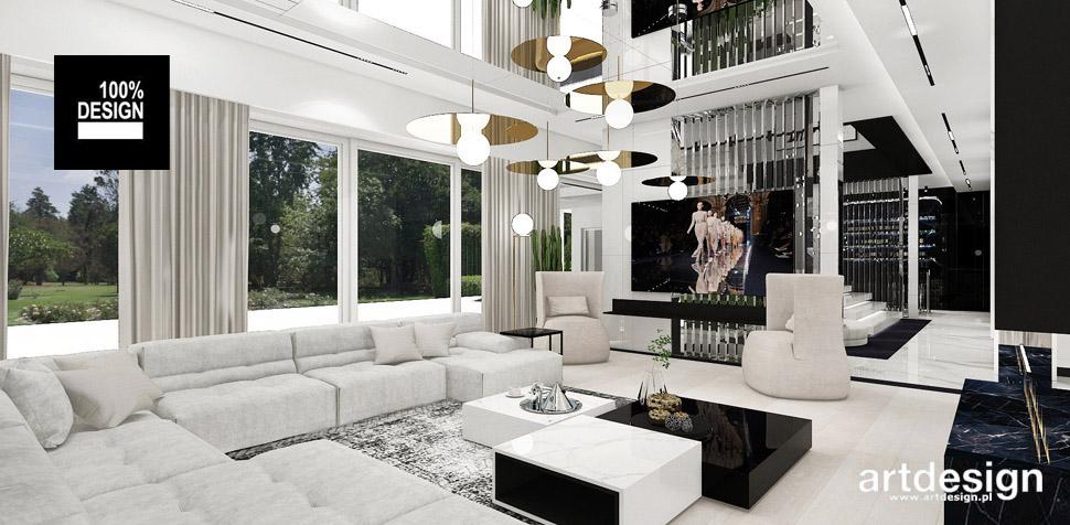 nowoczesny salon projekty wnętrz