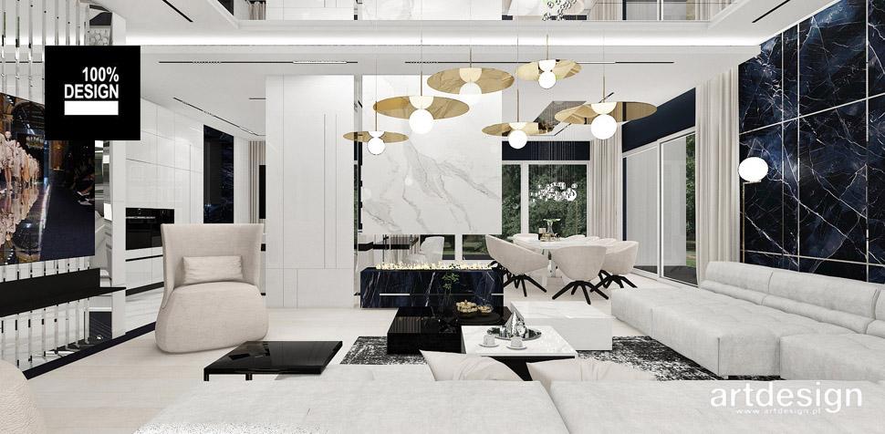 aranżacja salonu styl nowoczesny
