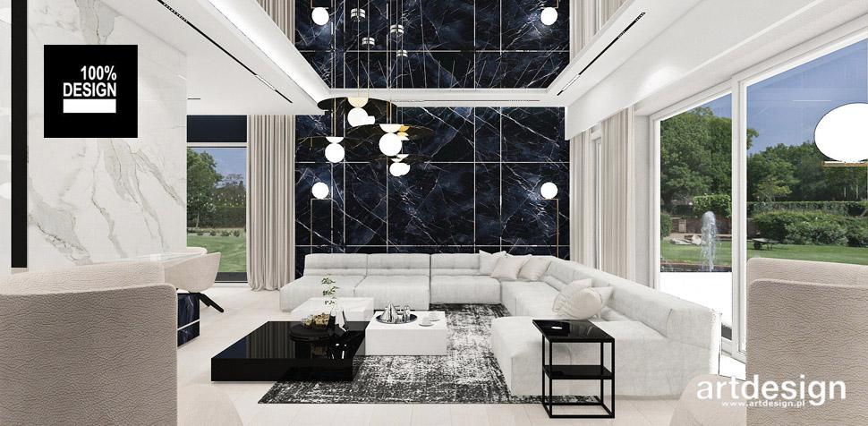 luksusowe wnętrza salon projekt