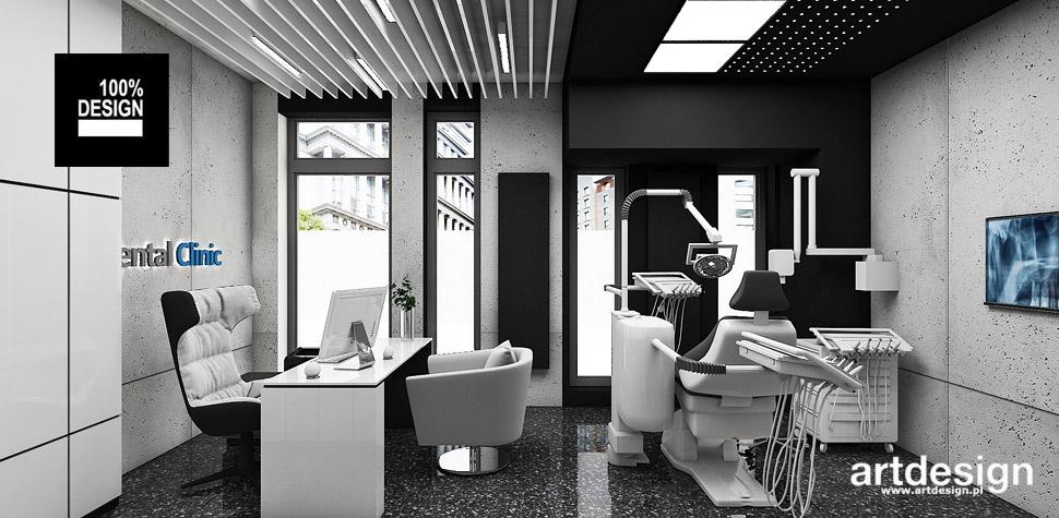 projekt gabinet stomatologiczny wnętrza