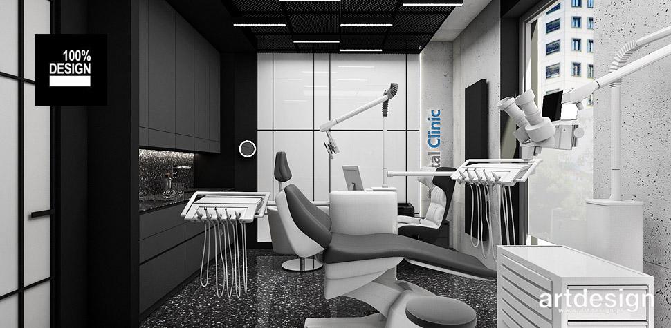 biały czarny gabinet stomatologiczny