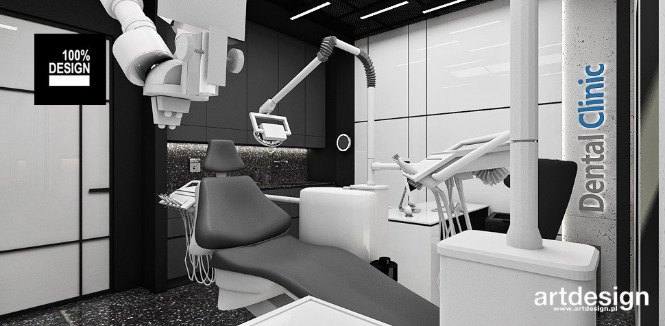projekty wnętrz klinika dentystyczna
