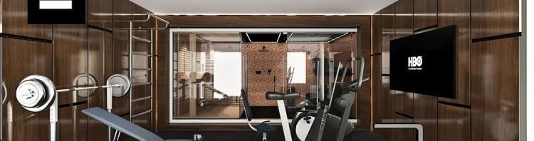 aranżacje wnętrz domowy fitness