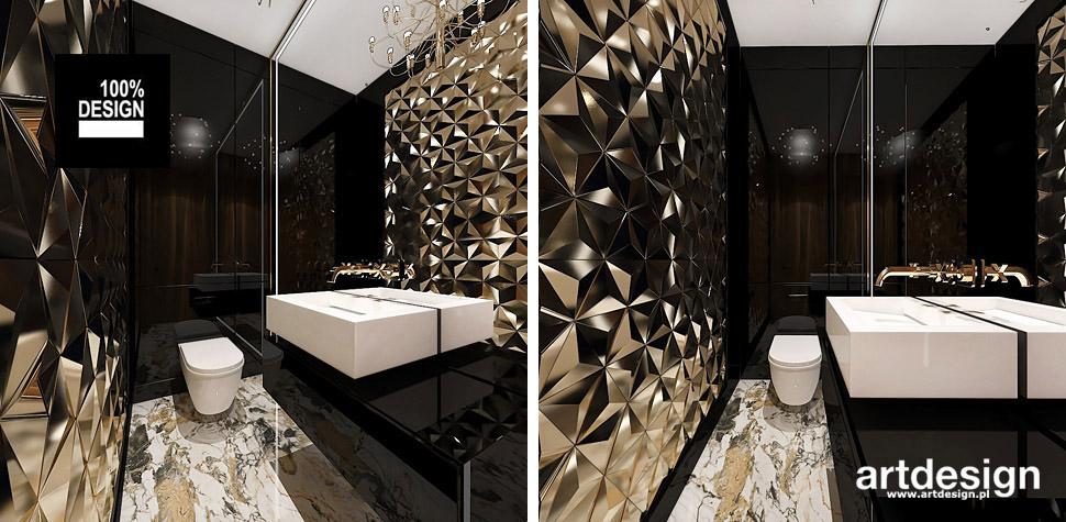 złota łazienka projekt wnętrz