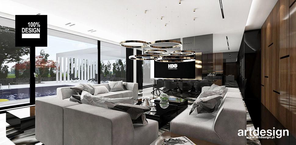 nowoczesna aranżacja salon wnętrze