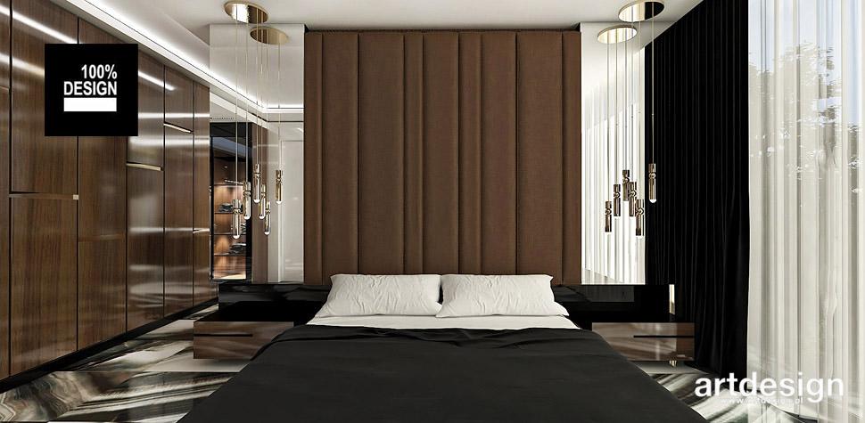 czekoladowa przytulna sypialnia