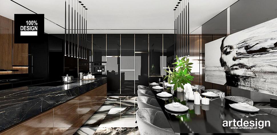 kuchnia z jadalnią wnętrza design