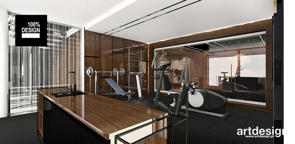 fitness sauna wnętrza projekty