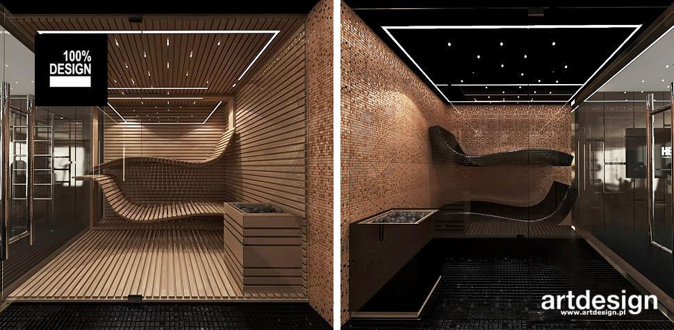 sauna spa domowe wnętrza